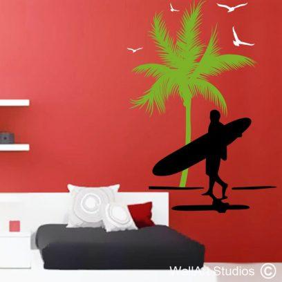 Hawaiian Surfer Wall Art