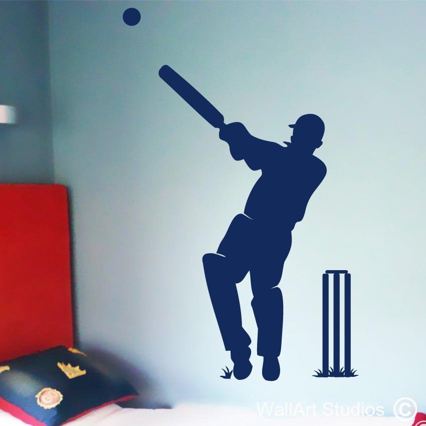 Cricket Player Wall Art Studios