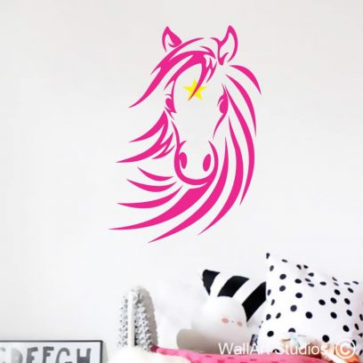 Pretty Star Pony, horse decals, girls room decor, horse stickers, home decor