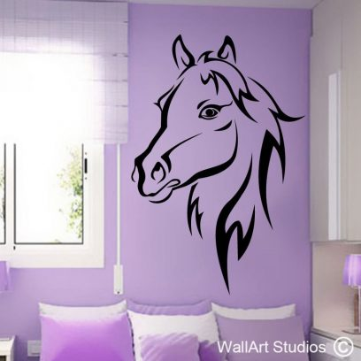 Black Stallion, vinyl wall art stickers, horse stickers, horse wall art decals, horse decals, equestrian