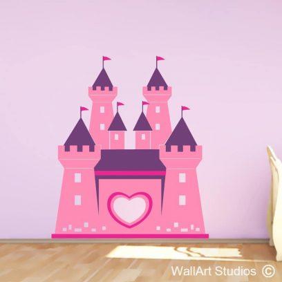 Candy castle stickers, girls bedroom wall art stickers, girls decals, castle decals, fairytale stickers, castle wall decals