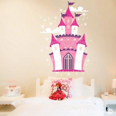 Enchanted Castle, wall art stickers, princess, wall art, vinyl