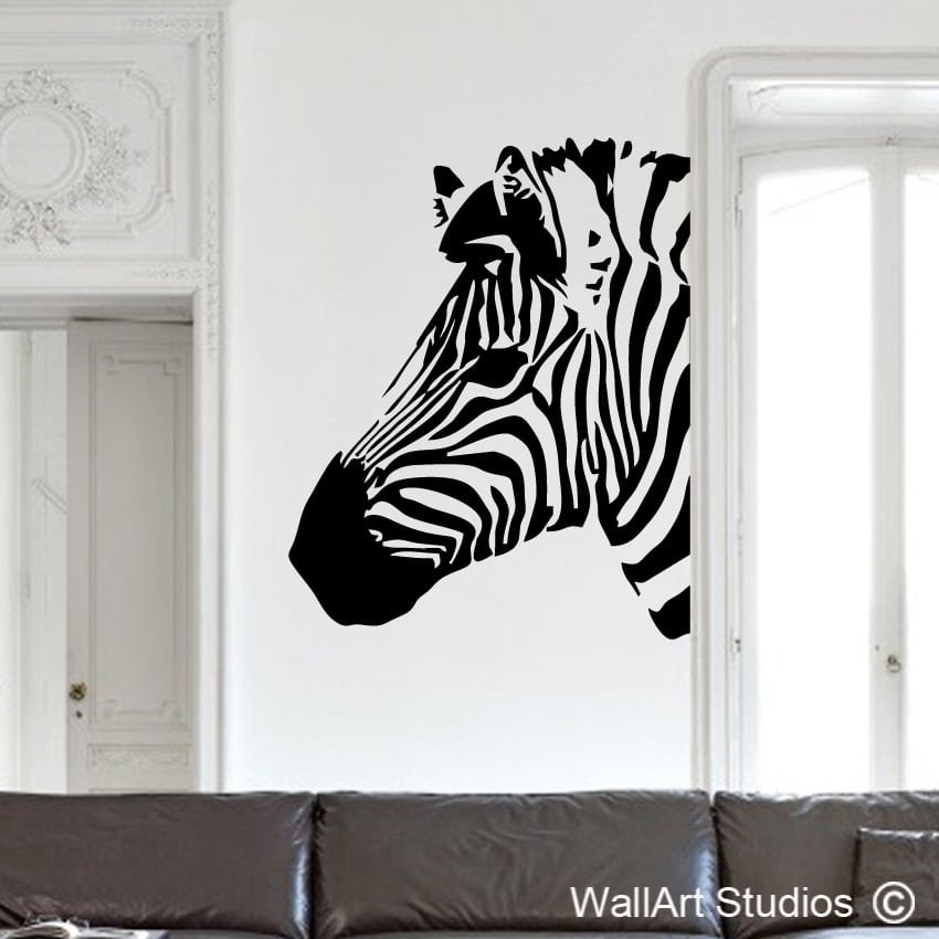 zebra wall art stickers | vinyl wall decals | wall art studios