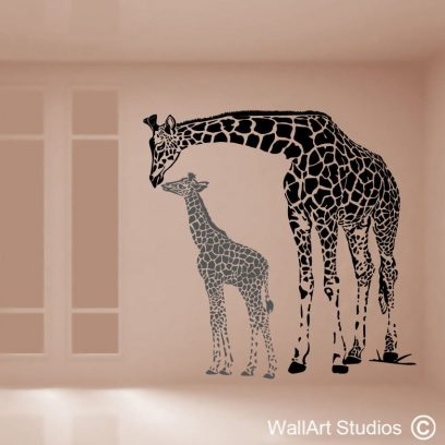 giraffe family wall decals,giraffe wall art stickers, decorative wall stickers, africa wallstickers, giraffes, big 5 walldecals