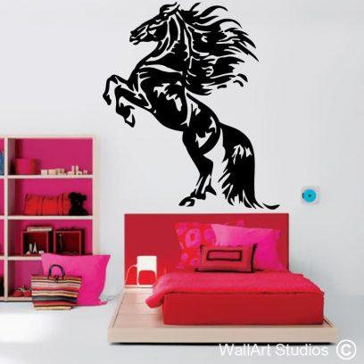 Friesian Rearing, horse decals, horse wall stickers, horse wallart, animals, wall decor
