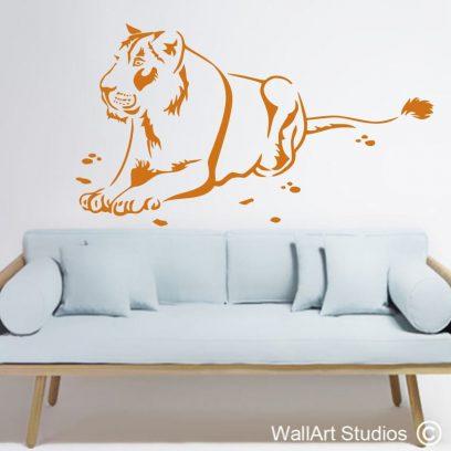 lioness wall art stickers, lioness, big 5 wall decals, african wall art, africa tattoos, vinyl, decal, custom