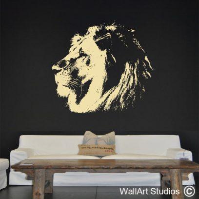 African Lion Wall Art Sticker