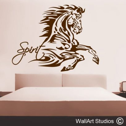 spirit stallion wall stickers, stallion wall decals, horse wall tattoos, horse stickers for walls