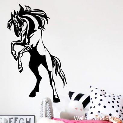 regal stallion wall art sticker, stallion vinyl wall tattoos,