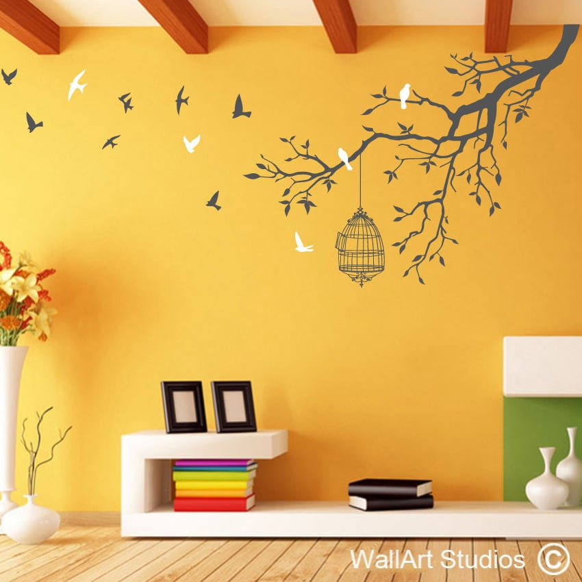 Wall Art Decals For Living Room: Butterflies Wall Art Stickers