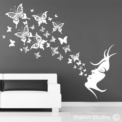 Butterfly Breath wall sticker, butterfly wallart stickers, butterfly wall decals, butterflies wall art