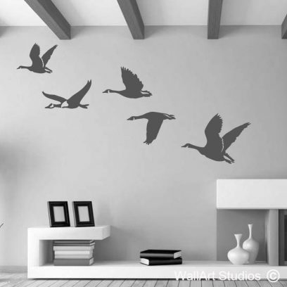 Flying Geese Wall Art Decal