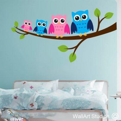 Owl Family Wall Art Sticker