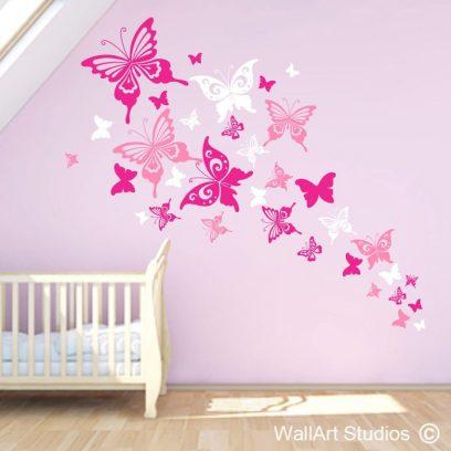 Beautiful Butterflies Wall Art Decal, nursery decor, home decor