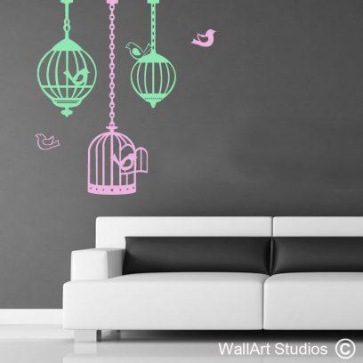 Bird Cages Wall Art Vinyls, decor, stickers, tattoos, wall art, custom