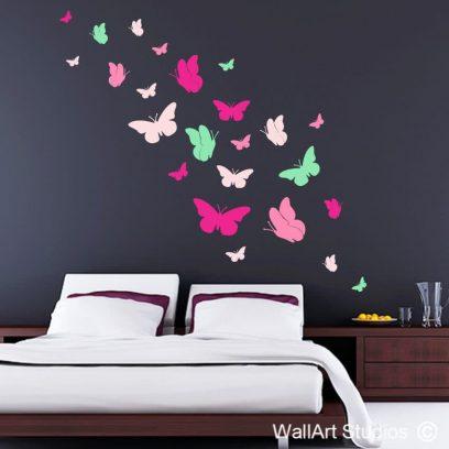 butterflies, vinyl decals, wall stickers, wall tattoos, removable wall art, custom decals, nature, butterfly, birds, home decor, beautiful