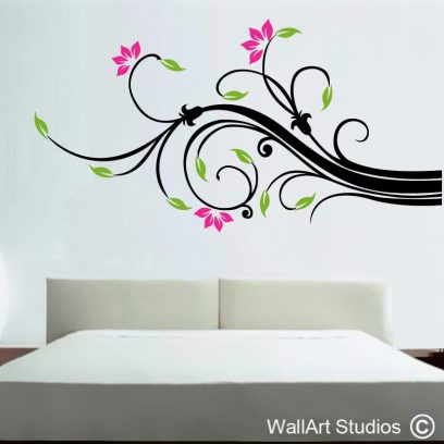 Wall art Swirl, decals, stickers, home decor, decorative