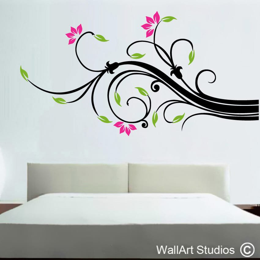 Wallart swirl wallart studios for Designer wall art