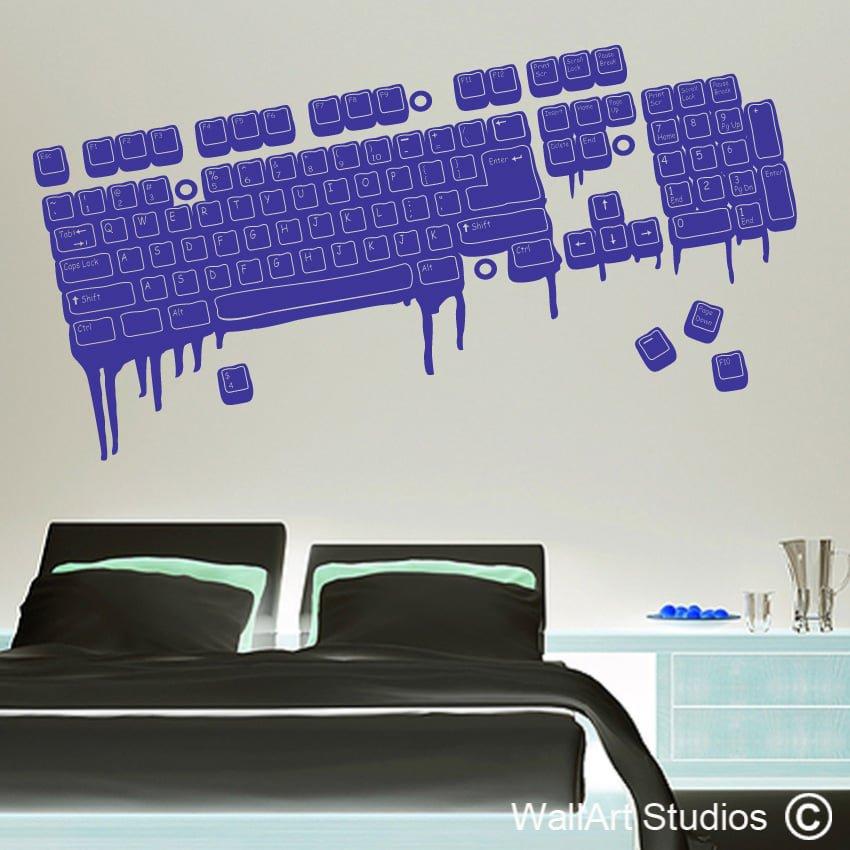 melting keyboard | vinyl wall decals | wall art studios sa