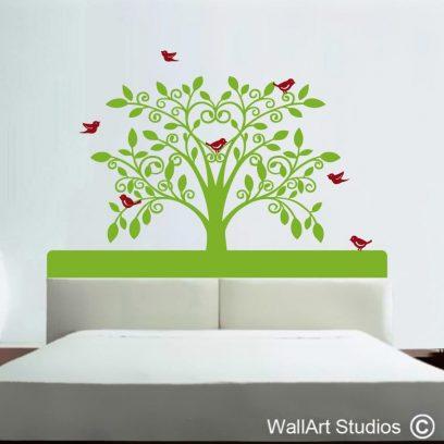 Deco Tree decal, deco sticker, tree decals, trees, headboard,interior design,home decor,bedroom ideas