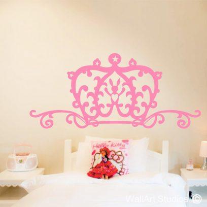 Princess headbaord decal, girls bedroom