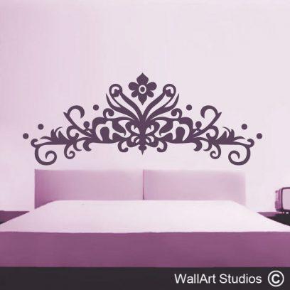Decorative Headboard, wallart decal, headboards, vinyl wall stickers, home decor, interior design, custom wall art