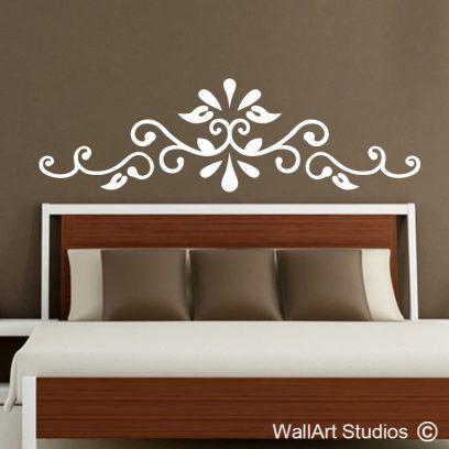 Flourish headboard, vinyl headboard,home decor,interior design,decals, wall murals, CUSTOM headbaords