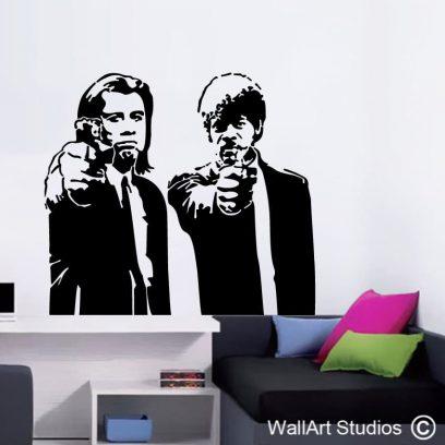 Pulp Fiction, John Travolta, Samuel L Jackson, teen wall art, bedroom ideas