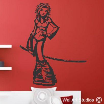 Kill Bill decal, wall stickers, Urma Thurman, Quentin Tarantino, Anime