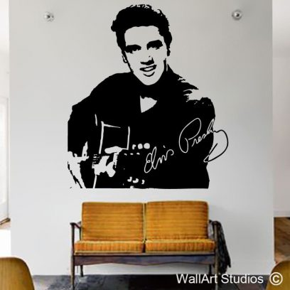Elvis Presley decal, Elvis, presley, stickers, famous, custom quotes, home decor, interior design, music