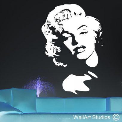 Marilyn Classic decal, Marilyn Monroe, beauty, legend,, wall art sticker, murals, famous, custom quotes