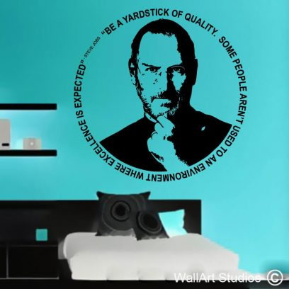 Steve Jobs decal, Steve Jobs, Apple, Iphone, Imac, macbook, custom wall art