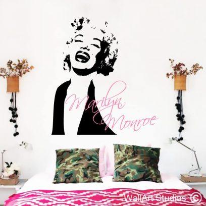 Marilyn Monroe decal, wall sticker, vinyl wall decal, custom, marilyn, monroe