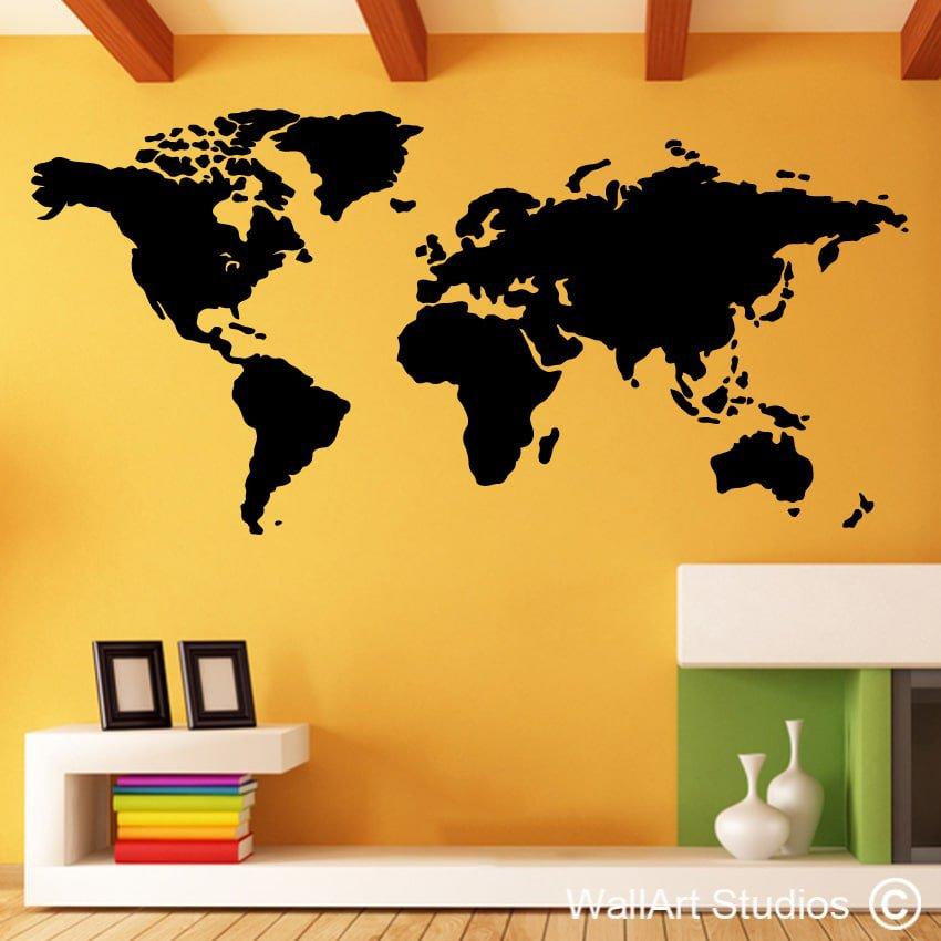 World Map | Wall Art Studios