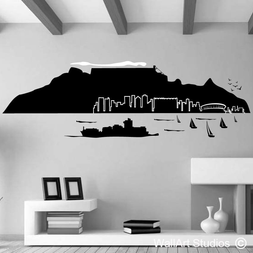 Table mountain wall art stickers wall art studios