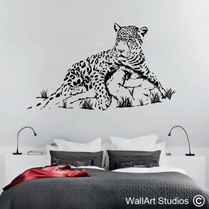 Leopard Rock, wall art stickers, wall decals, wall decor, zebra, giraffe, big 5, cheetah, big cats, lion, jaguar, africa