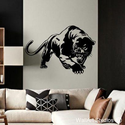 Panther, black panther, animal wall decals, wallart, wall decor, wall stickers, lion, jaguar