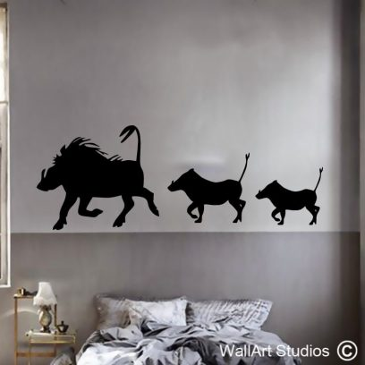 Warthogs, bush pig, pigs, animals, stickers, wall art, decal, decals, africa, custom, personalised