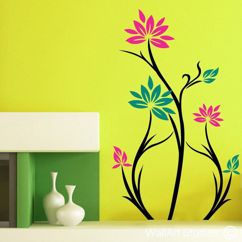 Deco lotus wallart studios