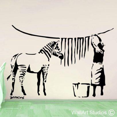 Zebra Stripes, Banksy, wall art, grafitti, africa, home decor, fun, funky, awesome