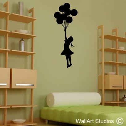 Banksy Balloons Wall Art Vinyls