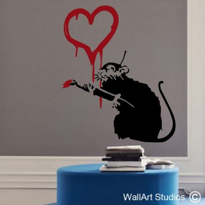 Love Rat, banksy, wall stickers, wall decals, wall art