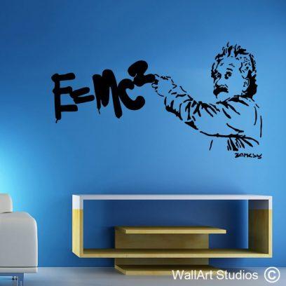 Einstein, e=mc2, albert einstein, wall decals, wallart stickers, south africa
