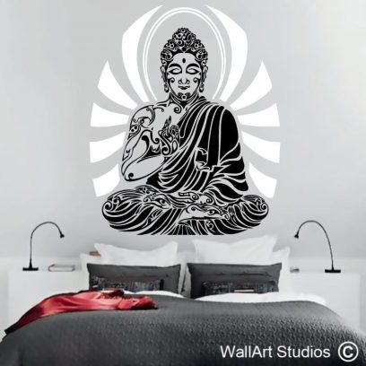 Tribal Buddha, tattoo, buddha, decal, wall art, custom wall decals, namaste