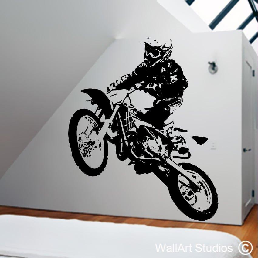 motor cross biker wall art studios. Black Bedroom Furniture Sets. Home Design Ideas