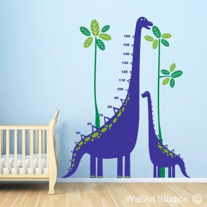 Dinosaur Height Fun Wall Decal Sticker