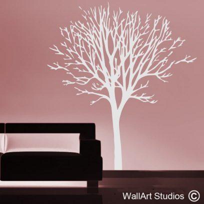 Winter Tree wall art decal, winter tree wall sticker, tree wall art, cusotm tree wall art, tree silhouette designs