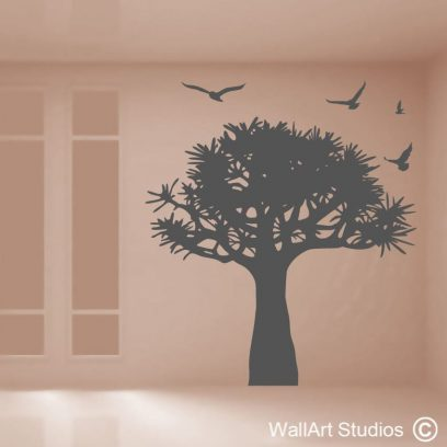 Baobab Tree wall art decal, baobab, africa decals, oldest living tree decal, vinyl wall stickers, tree silhouette