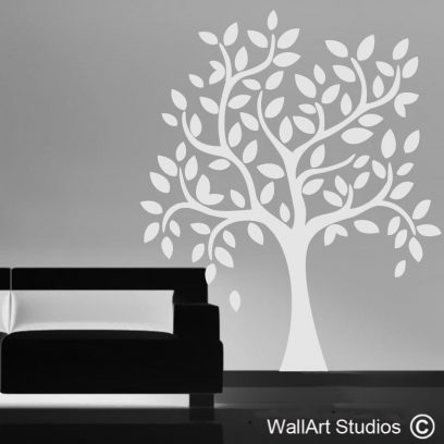 Eco Tree wall art decal, modern tree wall stickers, home decor, custom tree wall art
