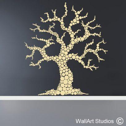 Organic Tree wall art decal, organic tree wall stickers, tree wall art vinyl stickers, custom wall art